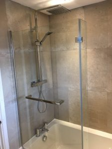 Full bathroom installation including plumbing, tiling and supply of bathroom suite
