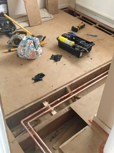 247 Plumbing Solutions of Larkfield, Kent. 22mm full copper Mega Flow Unvented Heating System installation including design, heating, plumbing in Aylesford, Kent.
